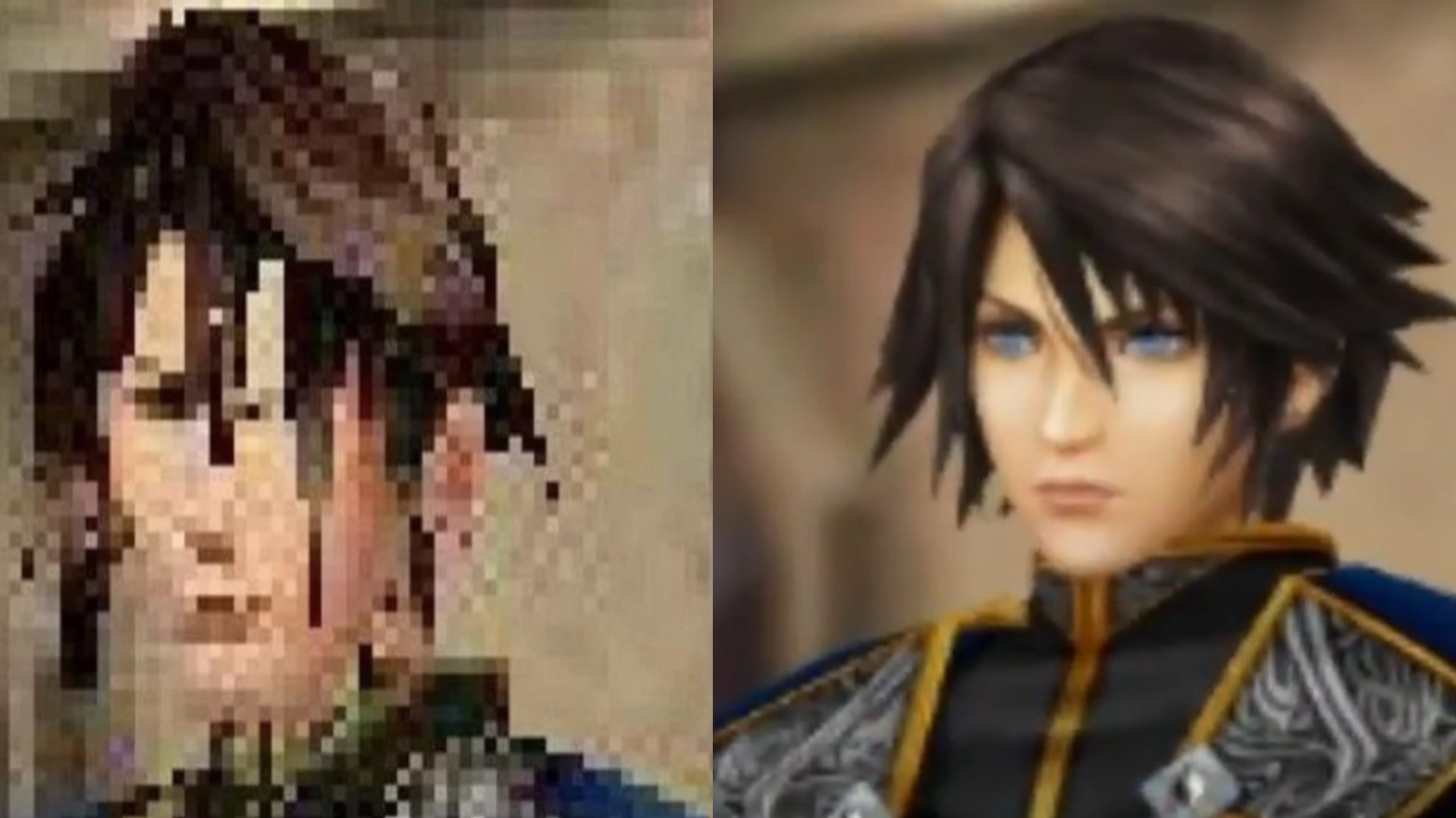 Final Fantasy VIII Remastered, Squall side by side